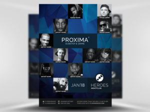 Free Proxima PSD Flyer Template