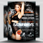 Free Swag Honey Saturdays PSD Flyer Template