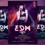 EDM Night - Free PSD Flyer Template