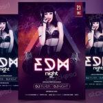 EDM Night – Free PSD Flyer Template