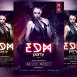 EDM Party - Free PSD Flyer Template