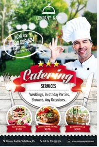 CATERING SERVICES Download  FREE PSD FLYER TEMPLATE