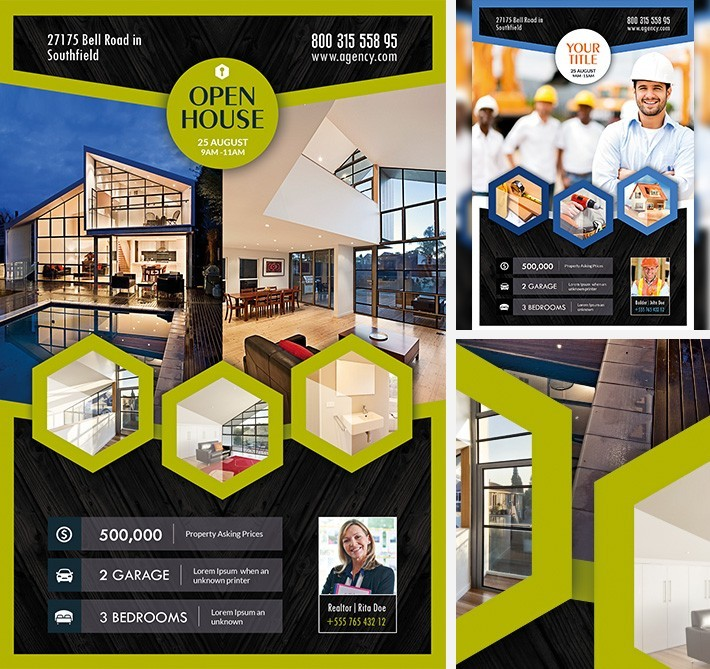 Open House Multi Download Free Psd Flyer Template Free Psd Flyer
