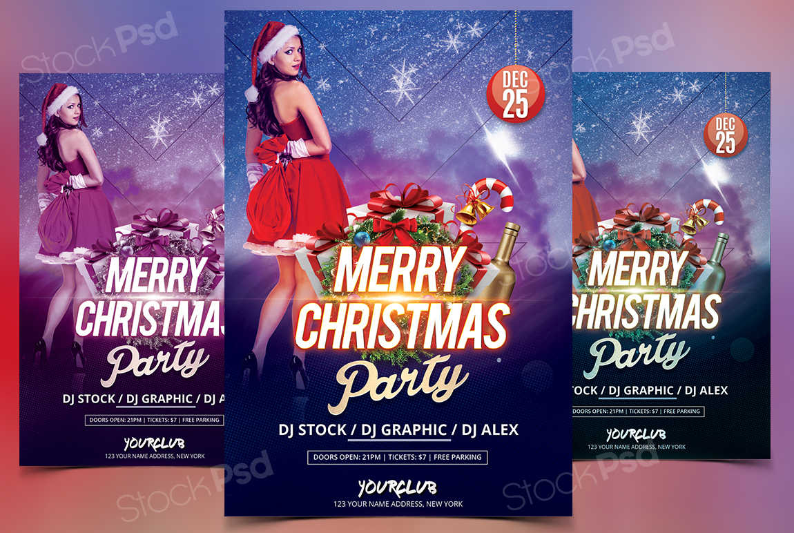 Christmas 2017 Free Psd Flyer Template Stockpsd