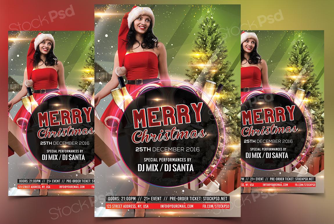 merry christmas psd flyer net say merry christmas