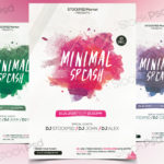 Minimal Splash – Free PSD Flyer Template