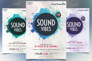 Sound Vibes – Free PSD Flyer Template