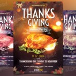 Thanksgiving Annual Party - Free PSD Flyer Template