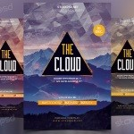 The Cloud - Download Free PSD Flyer Template