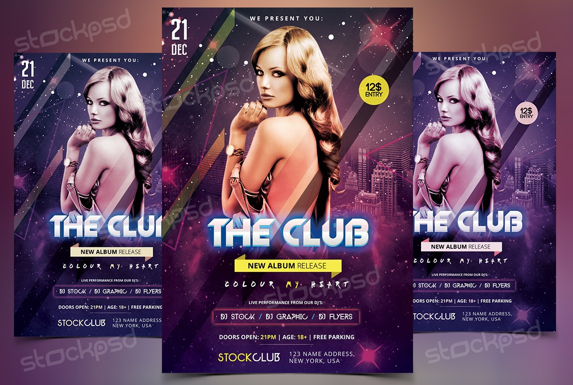 The Club – Download Free PSD Flyer Template