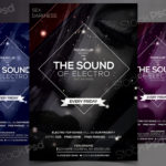 The Sound of Electro - Free PSD Party Flyer