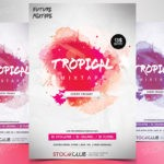 Tropical Mixtape -Download FREE PSD Flyer Template
