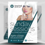 Free Sunday Sessions PSD Flyer Template