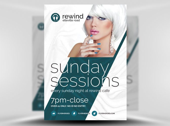 Free Sunday Sessions Psd Flyer Template Stockpsd