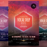 Vocal Deep House - FREE PSD Flyer Template