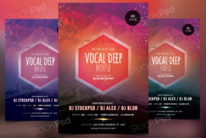 Vocal Deep House – FREE PSD Flyer Template