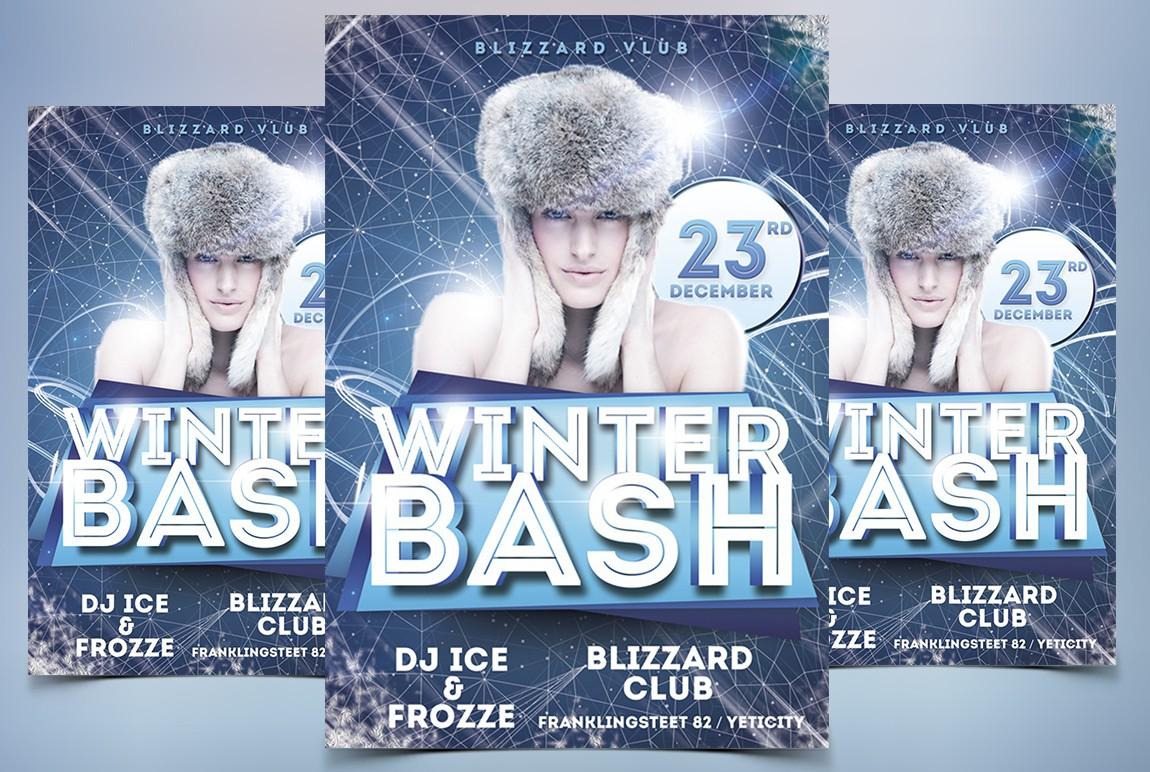 winter bash psd free flyer template stockpsd net