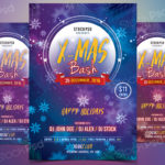 X-Mas Bash 2017 - Free PSD Flyer Template
