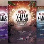 Merry X-Mas 2017 -Download Free PSD Flyer Template