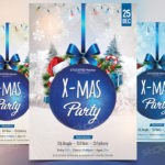 Blue Xmas Party -Download Free PSD Flyer Template