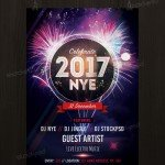 New Years Eve 2017 - Free Party PSD Flyer