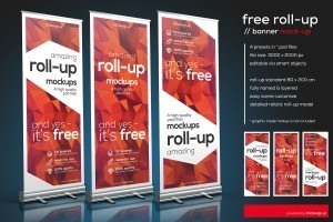 Free  Roll-Up Mockup in PSD