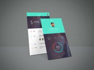 App Screen Showcase Free Mockup Vol.4