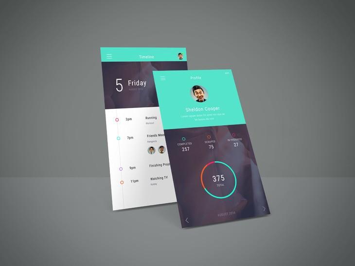App Screen Showcase Mockup Vol.4