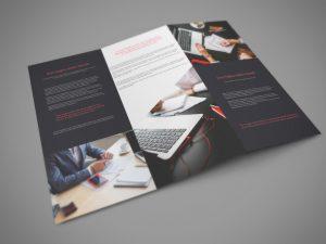 Tri Fold Download PSD Mockup