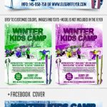 Winter Kids Camp – Download Flyer PSD Template + Facebook Cover