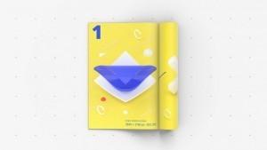 Folded Magazine Mockup – Freebie PSD Download
