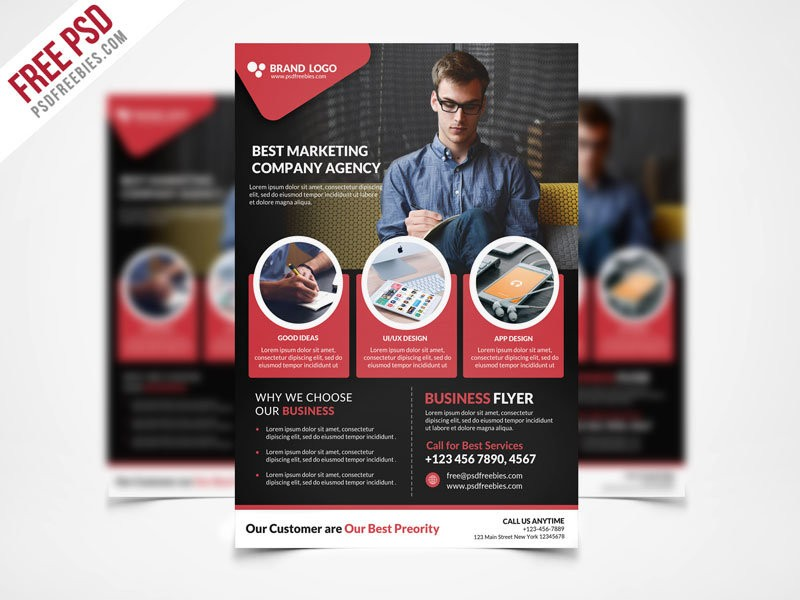 Corporate Business Free Psd Flyer Template Stockpsd Free