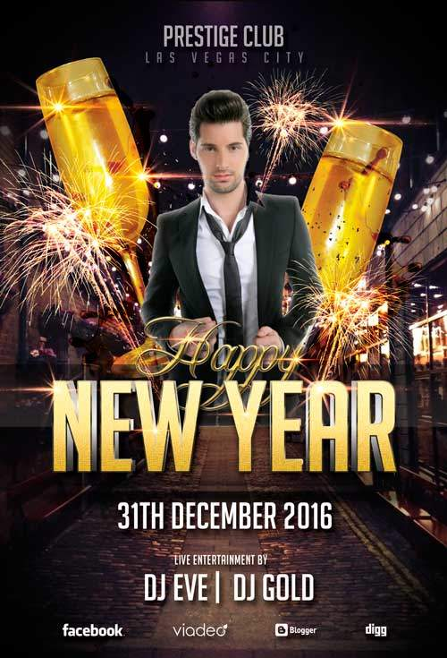 Free New Years Eve 2017 PSD Flyer Templates - Free PSD Flyer Templates ...