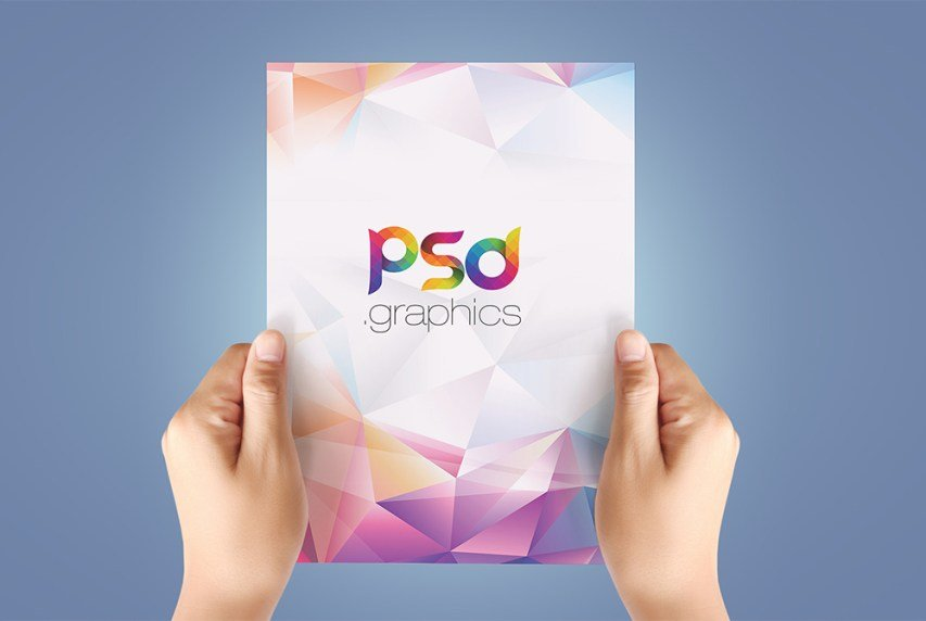A4 Paper In Hand Flyer Mockup Free Psd Stockpsd
