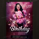 Birthday Bash - Free PSD Flyer Template