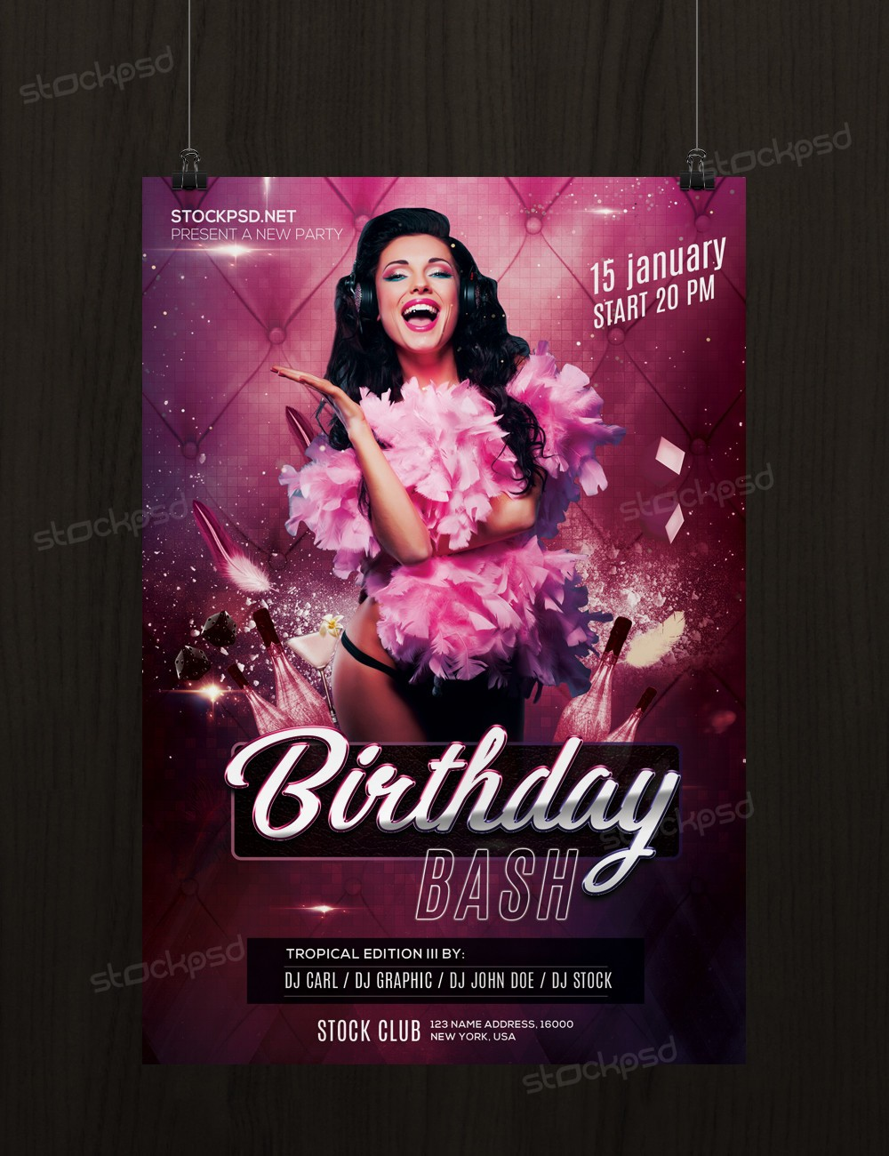 Birthday Bash – Free PSD Flyer Template