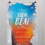 Break Beat - Download Free PSD Flyer Template