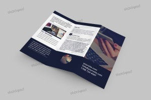Tri-Fold Corporate Brochure – Free PSD Template