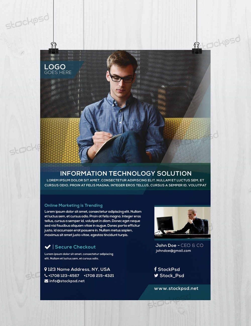 Business Flyer Vol.4 – Download Free PSD Flyer Template