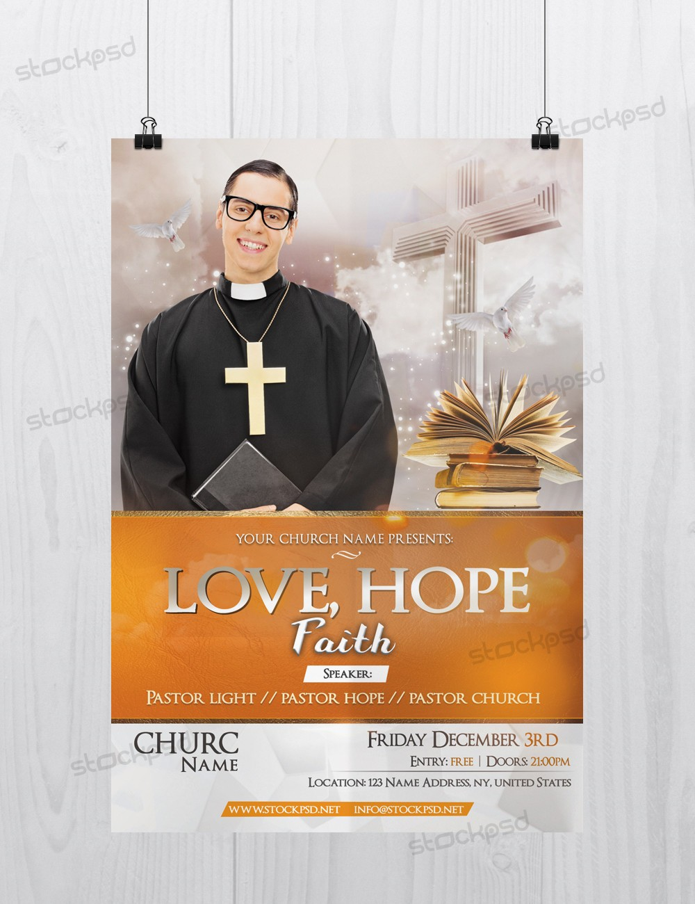 hope faith church psd flyer template stockpsd net a good flyer template
