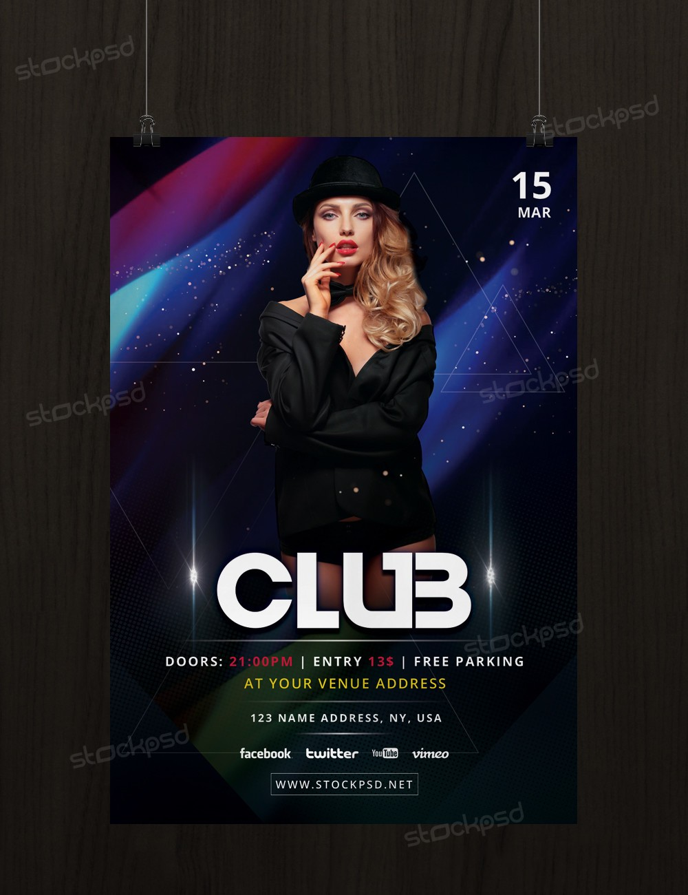club event download freebie psd flyer template