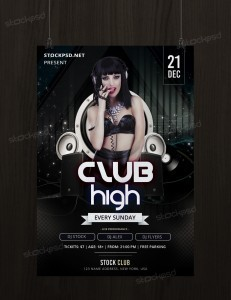 Club High – Free PSD Flyer Template