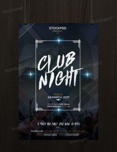 Club Night Party – Free PSD Flyer Template