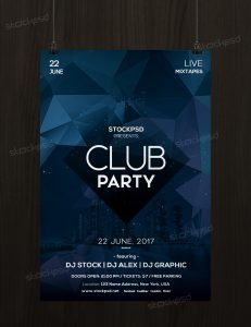 Club Party – Free Minimal PSD Flyer Template