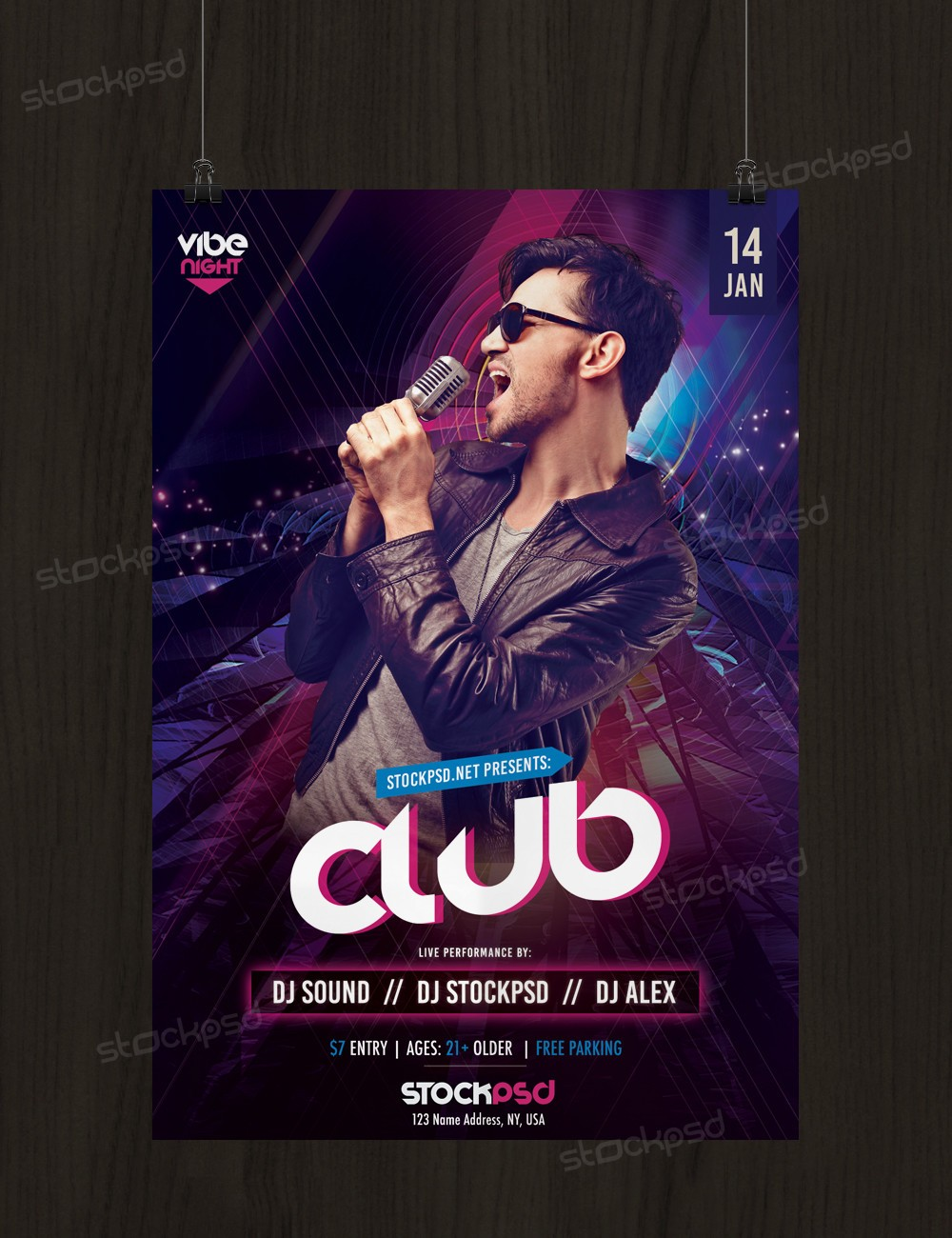 Free Psd Flyer Template: Free Party PSD Flyer/Poster Template
