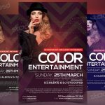 Color Entertainment - Download Free Fashion PSD Flyer