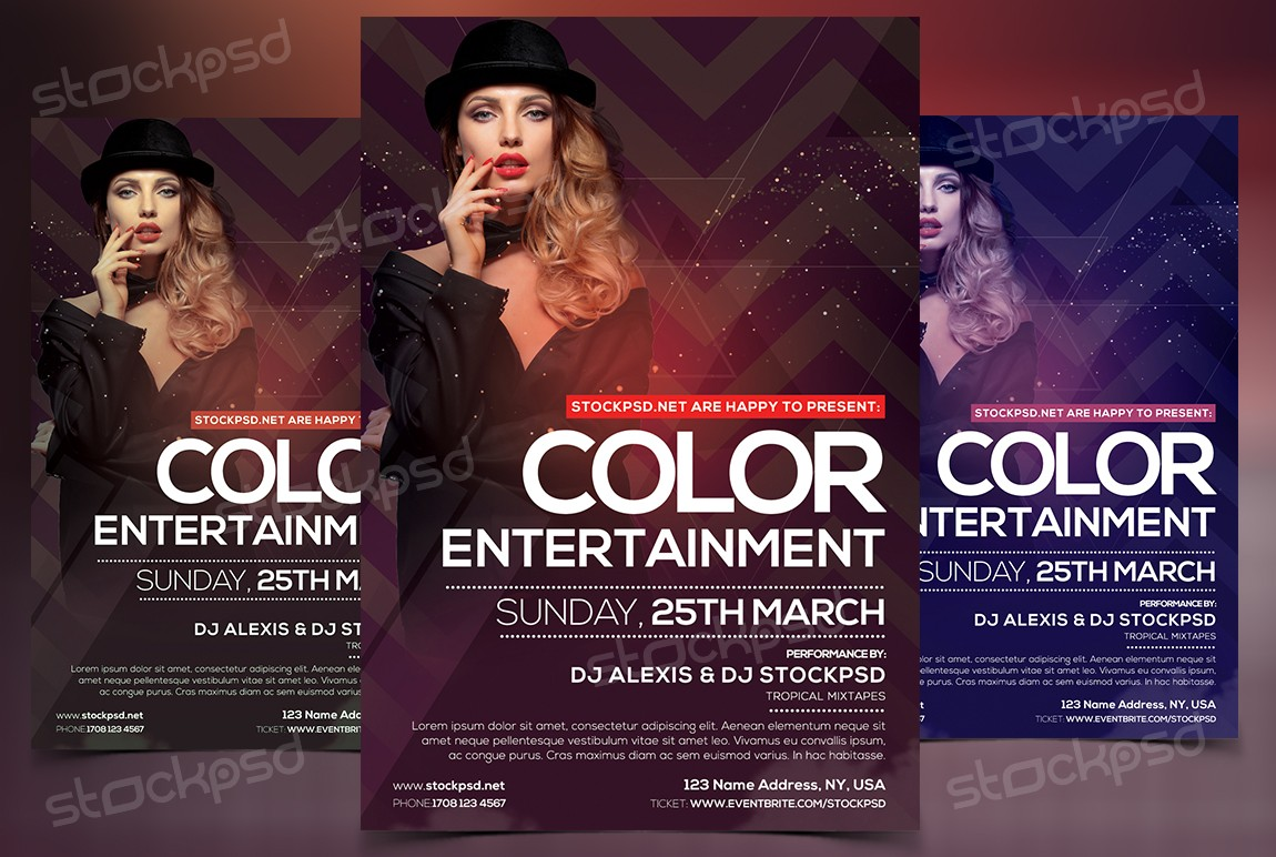Color Entertainment Download Free Fashion Psd Flyer Stockpsd