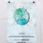 Color Sound - Free Minimal PSD Flyer Template