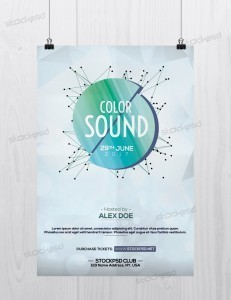 Color Sound – Free Minimal PSD Flyer Template