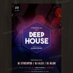 Deep House - Free PSD Flyer Template
